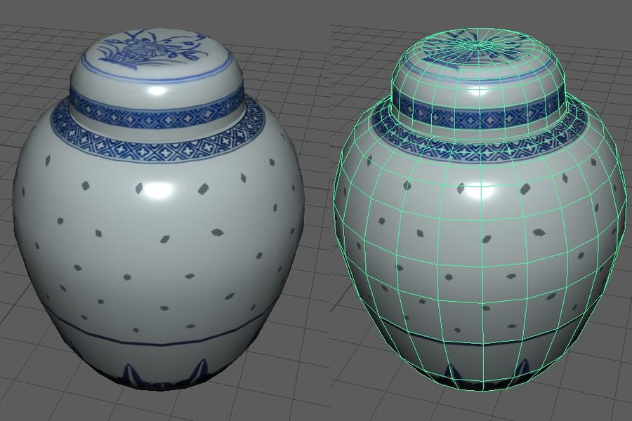Chinese Ginger Jar royalty-free 3d model - Preview no. 1