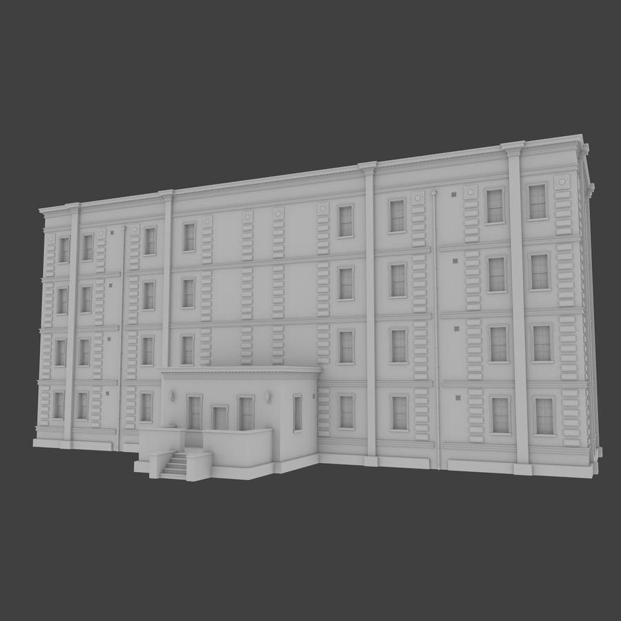 インテリアのあるブリックアパートメント2 royalty-free 3d model - Preview no. 1