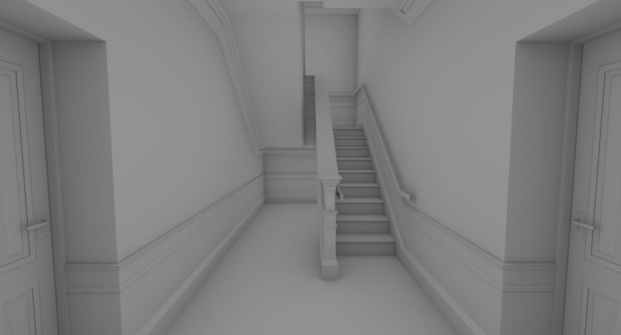 インテリアのあるブリックアパートメント2 royalty-free 3d model - Preview no. 10