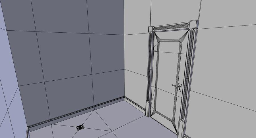 インテリアのあるブリックアパートメント2 royalty-free 3d model - Preview no. 29