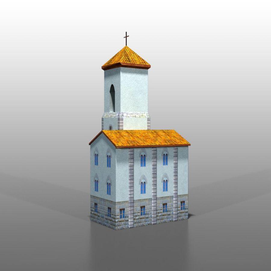 Church v1 royalty-free 3d model - Preview no. 4