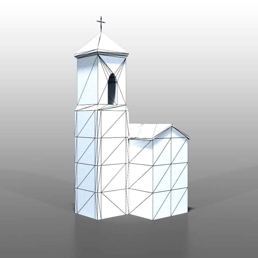 Church v1 royalty-free 3d model - Preview no. 8