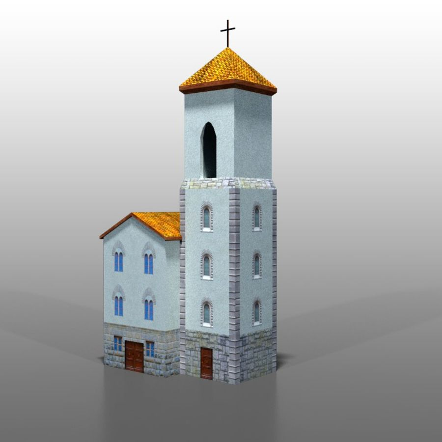 Church v1 royalty-free 3d model - Preview no. 2
