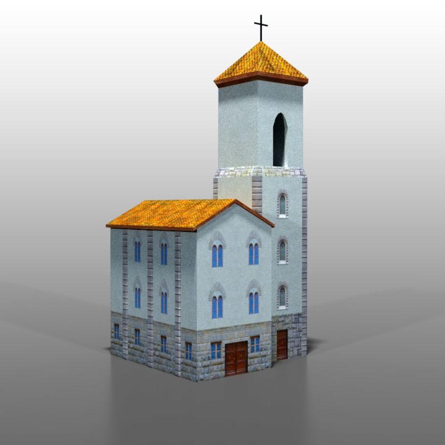 Church v1 royalty-free 3d model - Preview no. 1