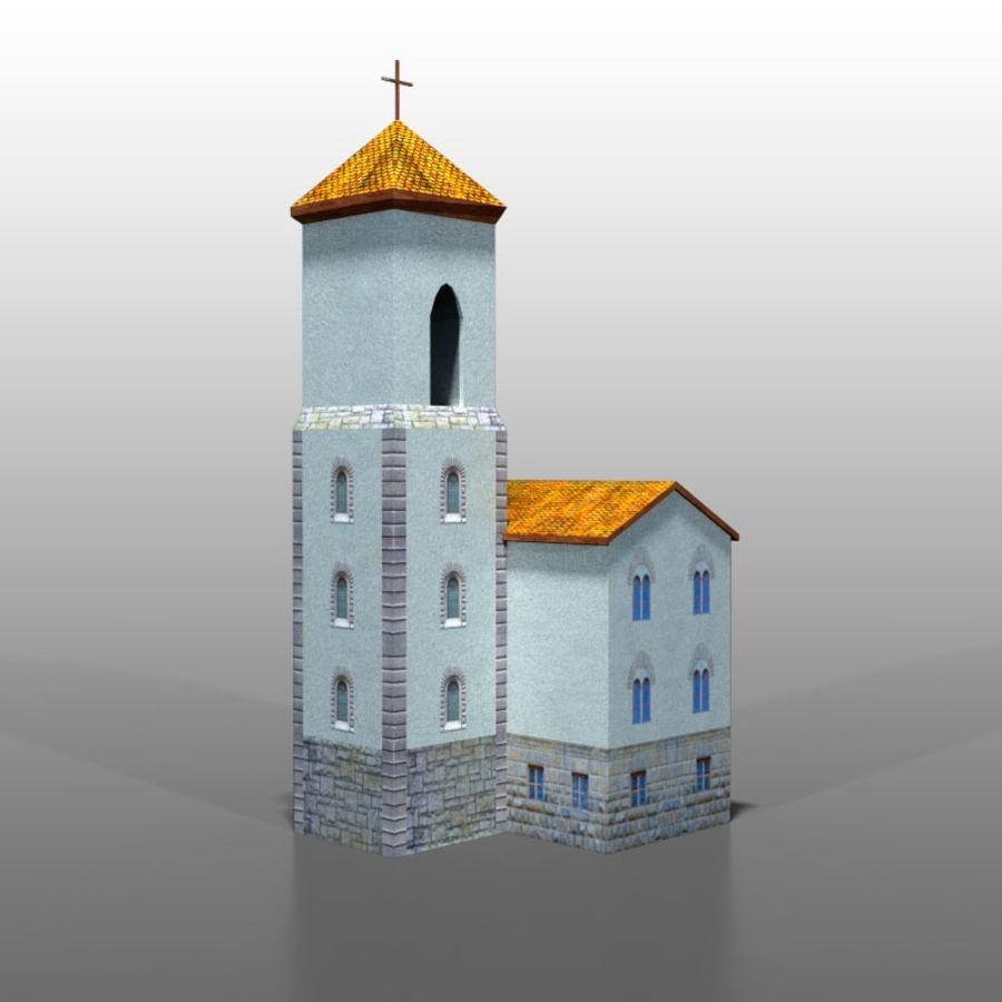 Church v1 royalty-free 3d model - Preview no. 3
