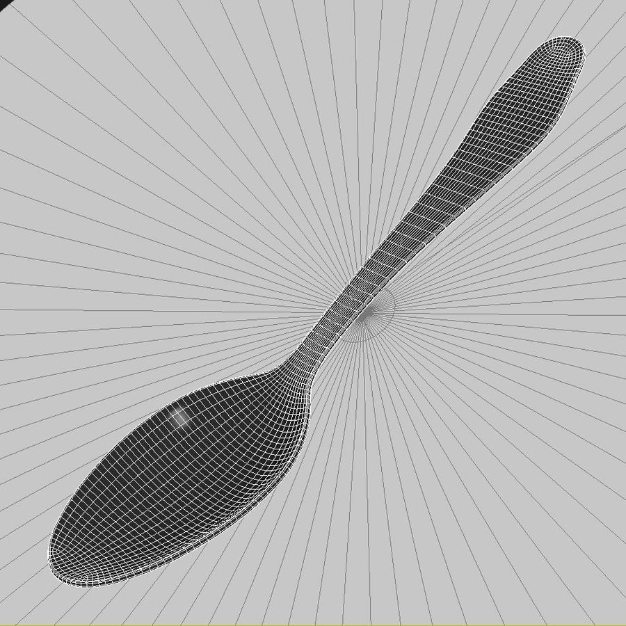 Spoon 01 royalty-free 3d model - Preview no. 6