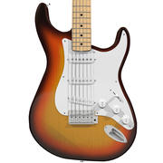 Guitarra: Fender Stratocaster: Sunburst Finish modelo 3d
