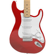 Gitara Fender Stratocaster Red Finish 3d model