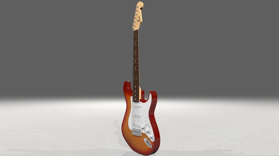 Gitarr: Fender Stratocaster Sunburst Finish royalty-free 3d model - Preview no. 6