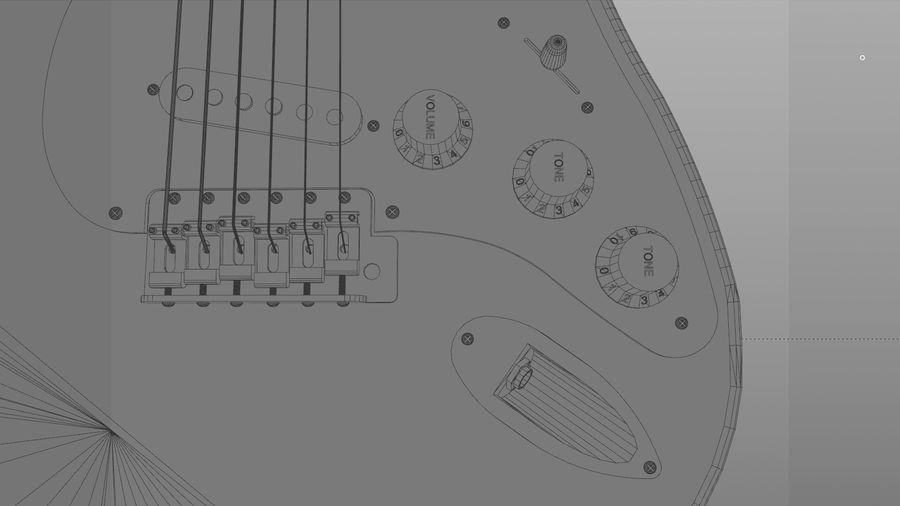Gitarr: Fender Stratocaster Sunburst Finish royalty-free 3d model - Preview no. 21