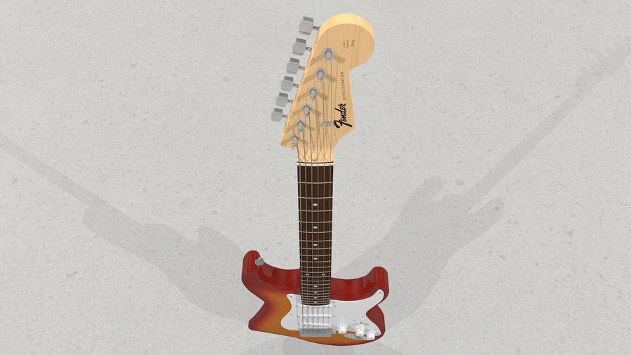 Gitarr: Fender Stratocaster Sunburst Finish royalty-free 3d model - Preview no. 28