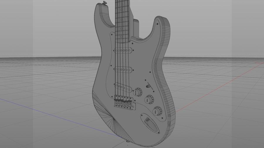 Gitarr: Fender Stratocaster Sunburst Finish royalty-free 3d model - Preview no. 15