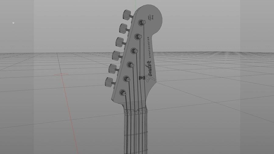 Gitarr: Fender Stratocaster Sunburst Finish royalty-free 3d model - Preview no. 25