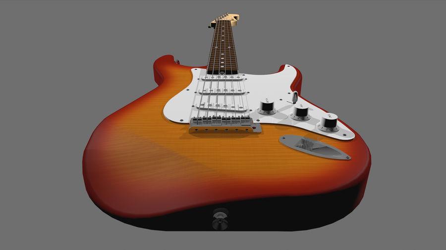 Gitarr: Fender Stratocaster Sunburst Finish royalty-free 3d model - Preview no. 18