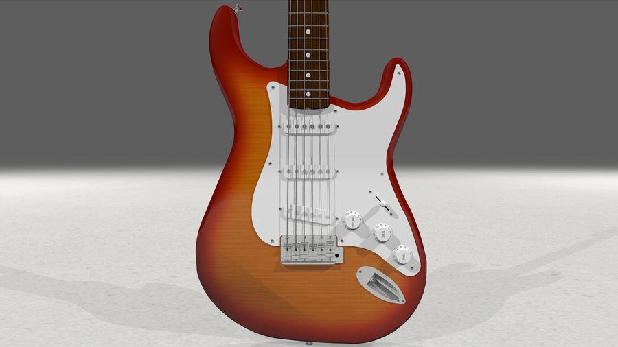 Gitarr: Fender Stratocaster Sunburst Finish royalty-free 3d model - Preview no. 12
