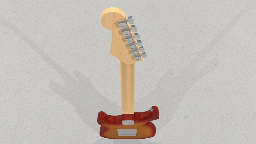 Gitarr: Fender Stratocaster Sunburst Finish royalty-free 3d model - Preview no. 30