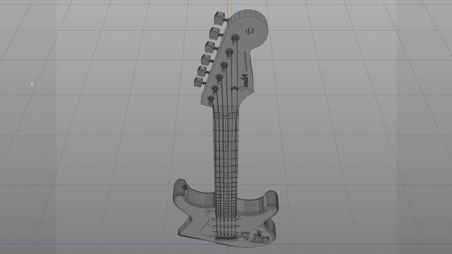 Gitarr: Fender Stratocaster Sunburst Finish royalty-free 3d model - Preview no. 29
