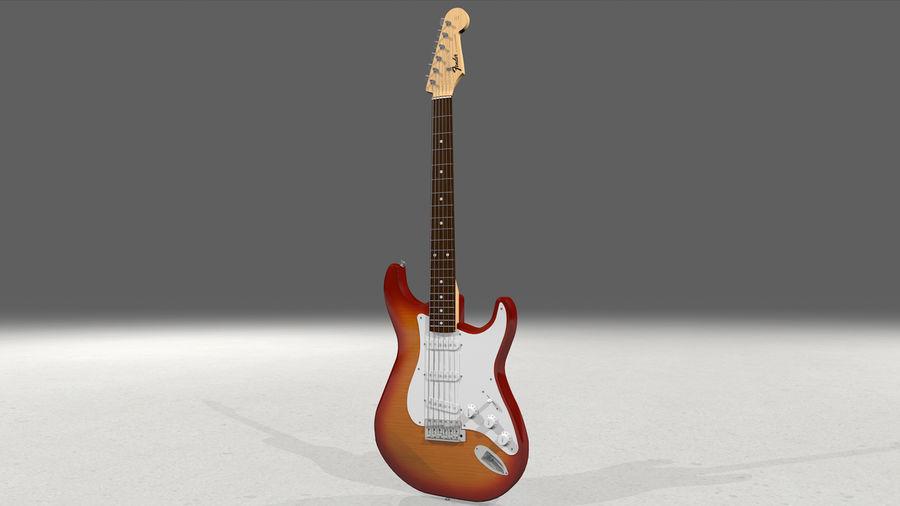 Gitarr: Fender Stratocaster Sunburst Finish royalty-free 3d model - Preview no. 4