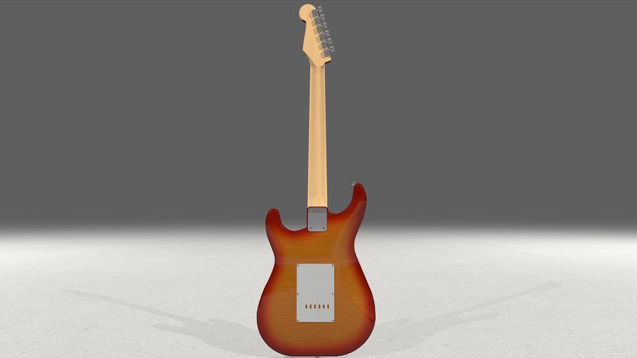Gitarr: Fender Stratocaster Sunburst Finish royalty-free 3d model - Preview no. 10