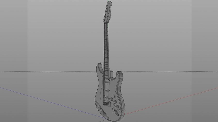 Gitarr: Fender Stratocaster Sunburst Finish royalty-free 3d model - Preview no. 7