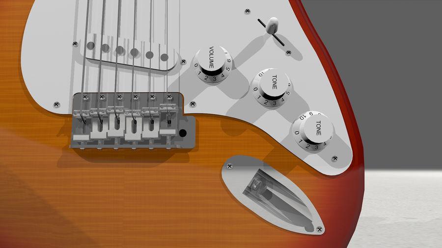 Gitarr: Fender Stratocaster Sunburst Finish royalty-free 3d model - Preview no. 20