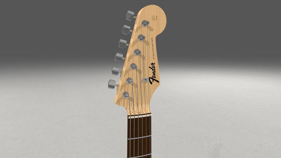 Gitarr: Fender Stratocaster Sunburst Finish royalty-free 3d model - Preview no. 24