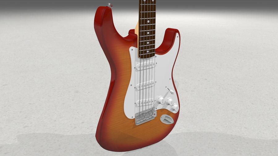 Gitarr: Fender Stratocaster Sunburst Finish royalty-free 3d model - Preview no. 16