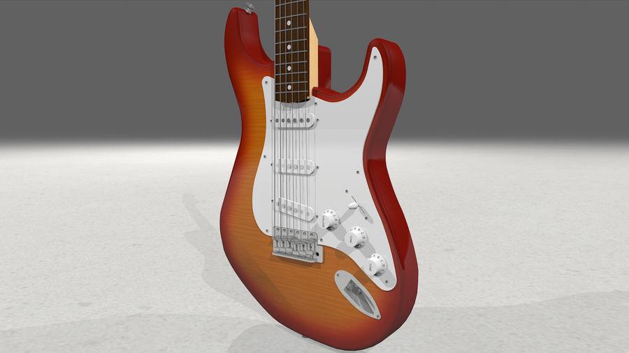 Gitarr: Fender Stratocaster Sunburst Finish royalty-free 3d model - Preview no. 14