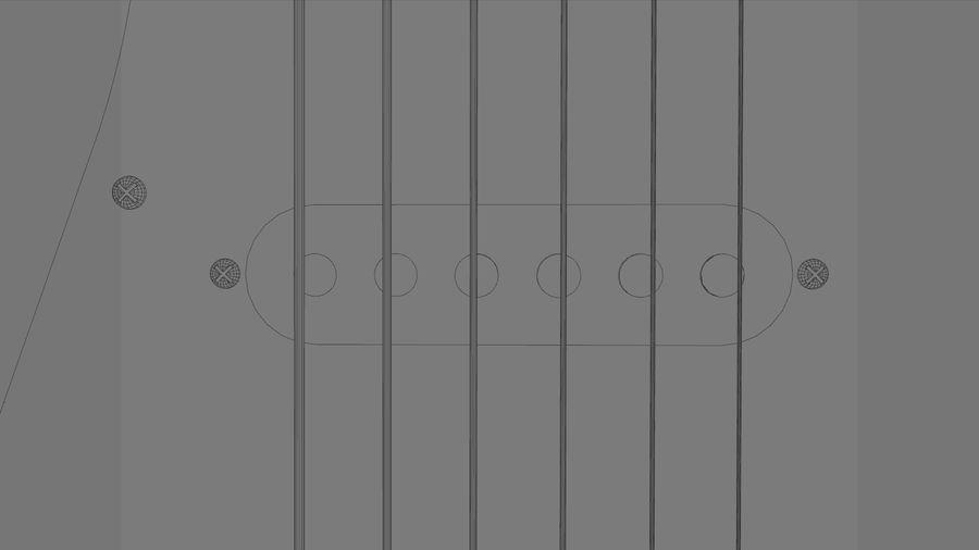Gitarr: Fender Stratocaster Sunburst Finish royalty-free 3d model - Preview no. 23