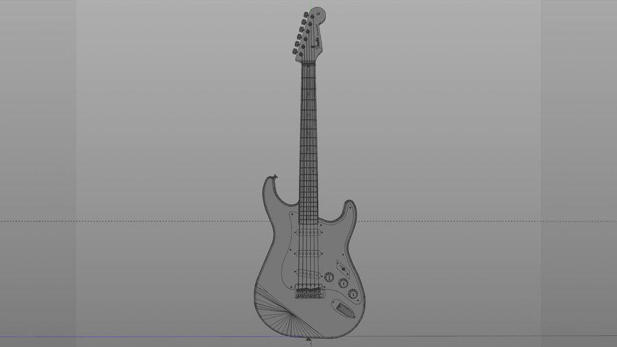Gitarr: Fender Stratocaster Sunburst Finish royalty-free 3d model - Preview no. 3