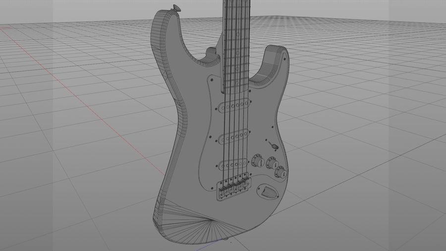 Gitarr: Fender Stratocaster Sunburst Finish royalty-free 3d model - Preview no. 17