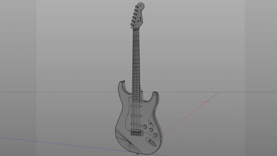 Gitarr: Fender Stratocaster Sunburst Finish royalty-free 3d model - Preview no. 5