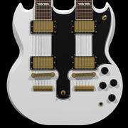 Chitarra: Gibson Double Neck: Alpine White 3d model