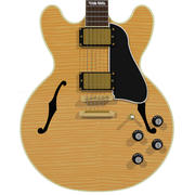 Chitarra: Gibson ES Hollow Body: Acero fiammato 3d model