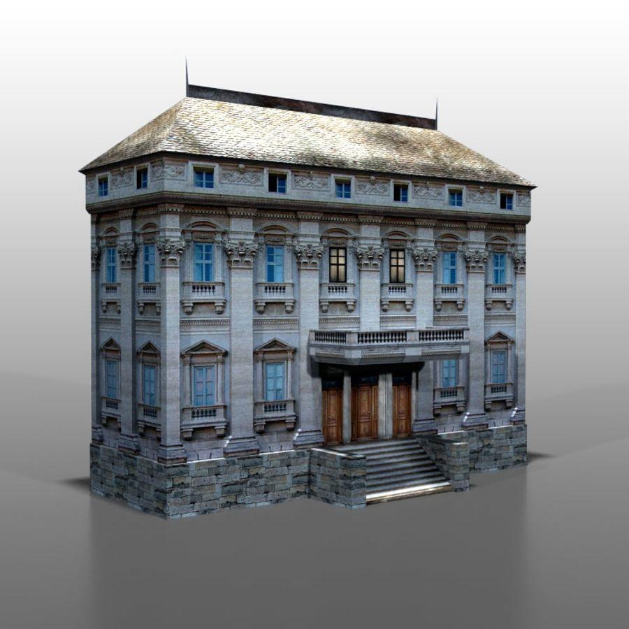 Frans huis v9 royalty-free 3d model - Preview no. 2
