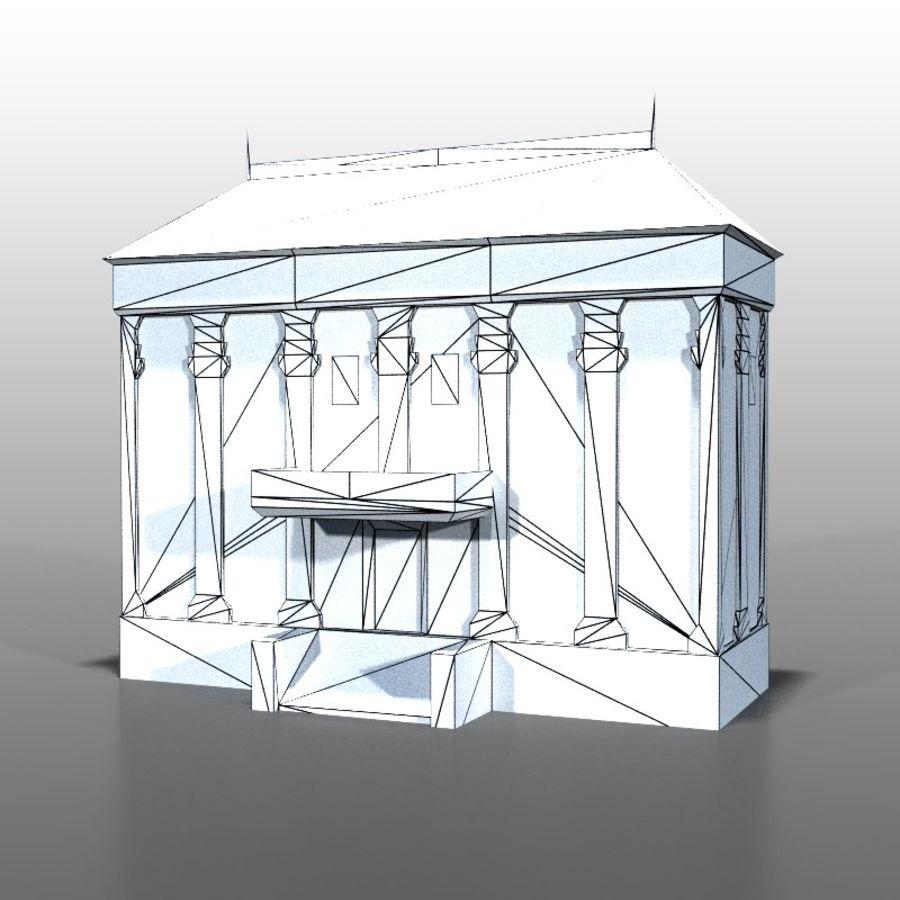 Frans huis v9 royalty-free 3d model - Preview no. 8