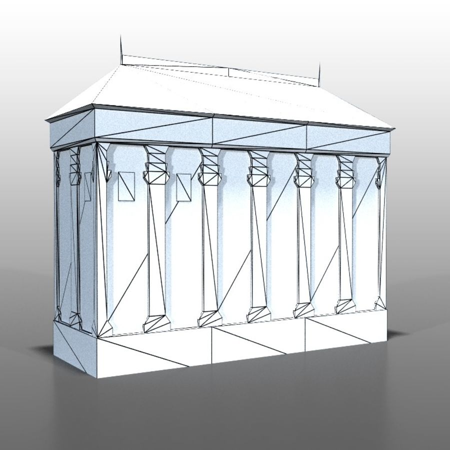 Frans huis v9 royalty-free 3d model - Preview no. 6