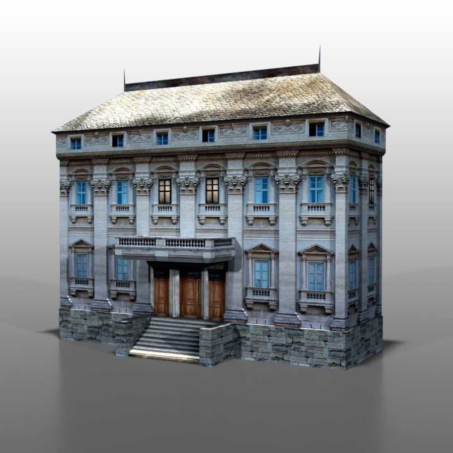Frans huis v9 royalty-free 3d model - Preview no. 1