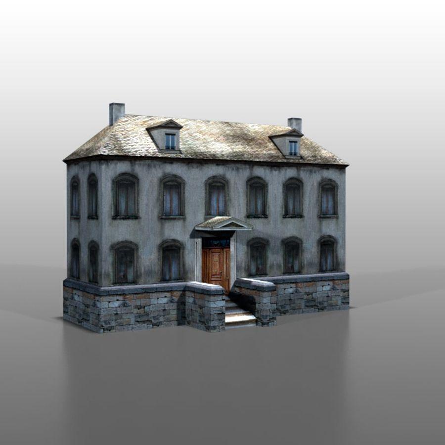 Frans huis v13 royalty-free 3d model - Preview no. 2
