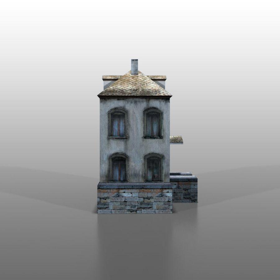 Frans huis v13 royalty-free 3d model - Preview no. 3