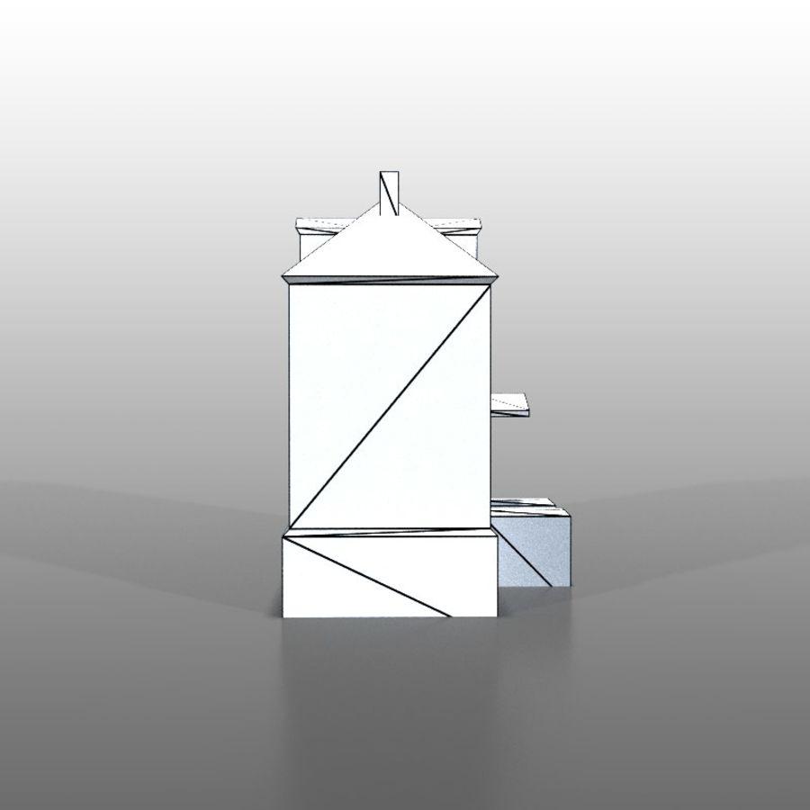 Frans huis v13 royalty-free 3d model - Preview no. 6