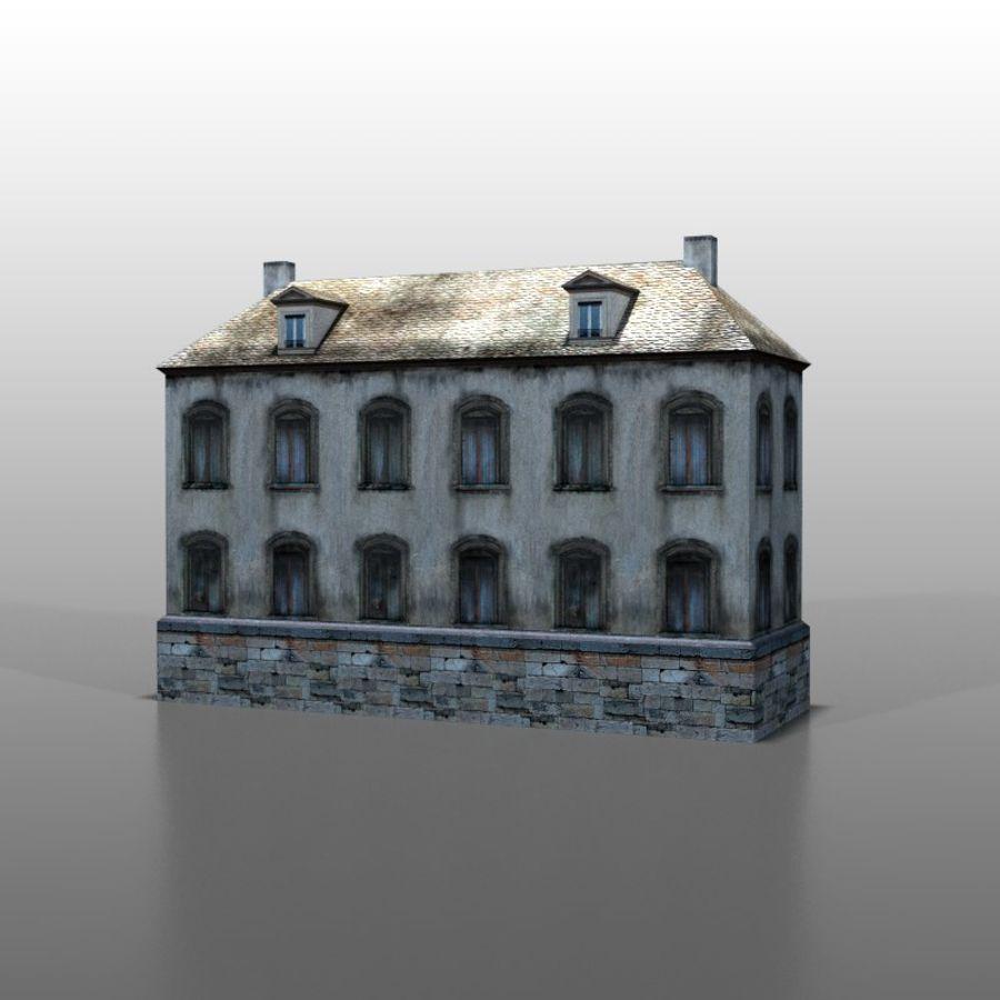 Frans huis v13 royalty-free 3d model - Preview no. 4