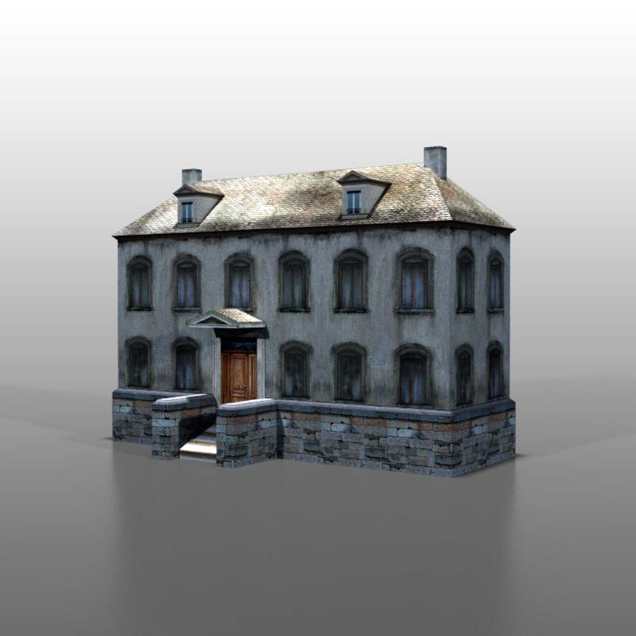 Frans huis v13 royalty-free 3d model - Preview no. 1
