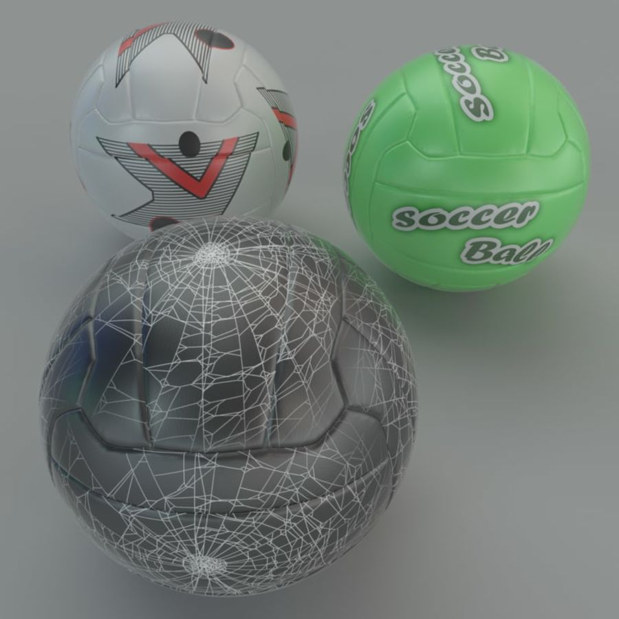 Soccer ball football 01 royalty-free 3d model - Preview no. 2