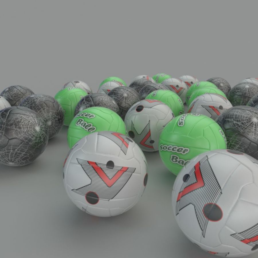 Soccer ball football 01 royalty-free 3d model - Preview no. 5