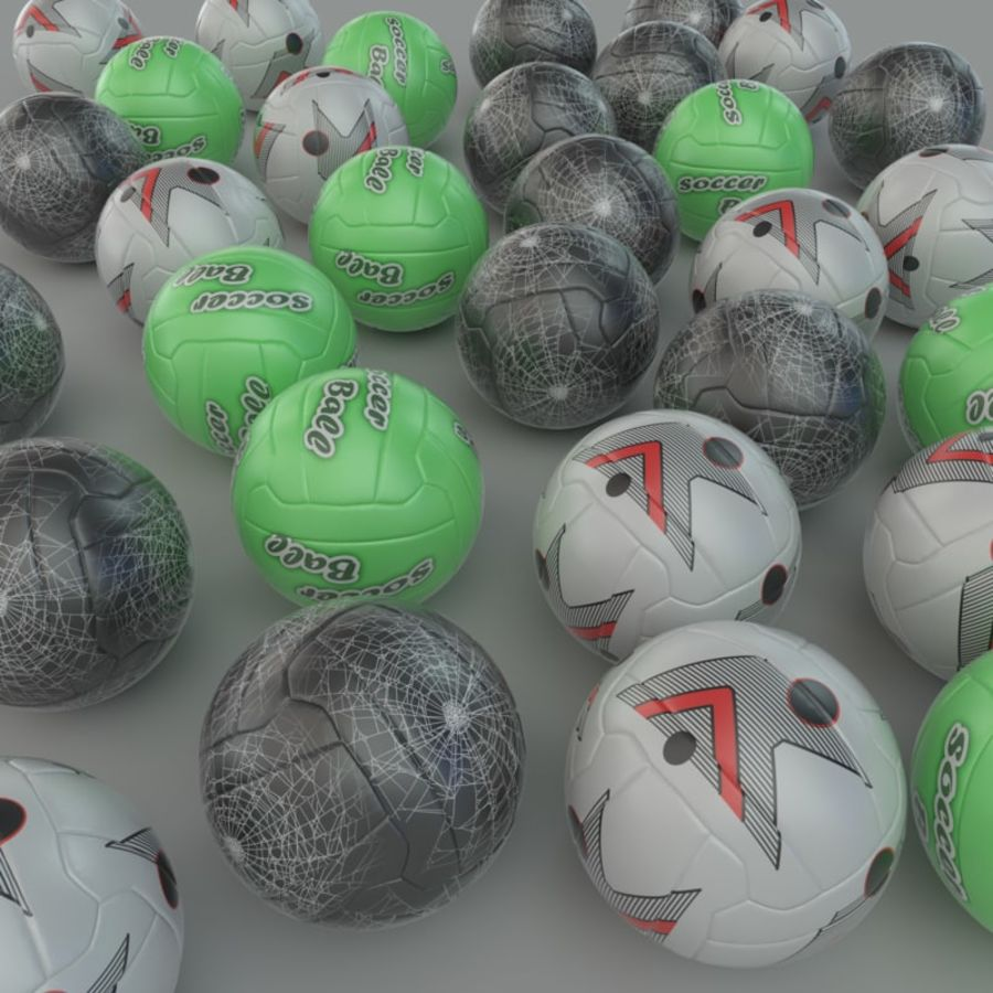 Soccer ball football 01 royalty-free 3d model - Preview no. 4