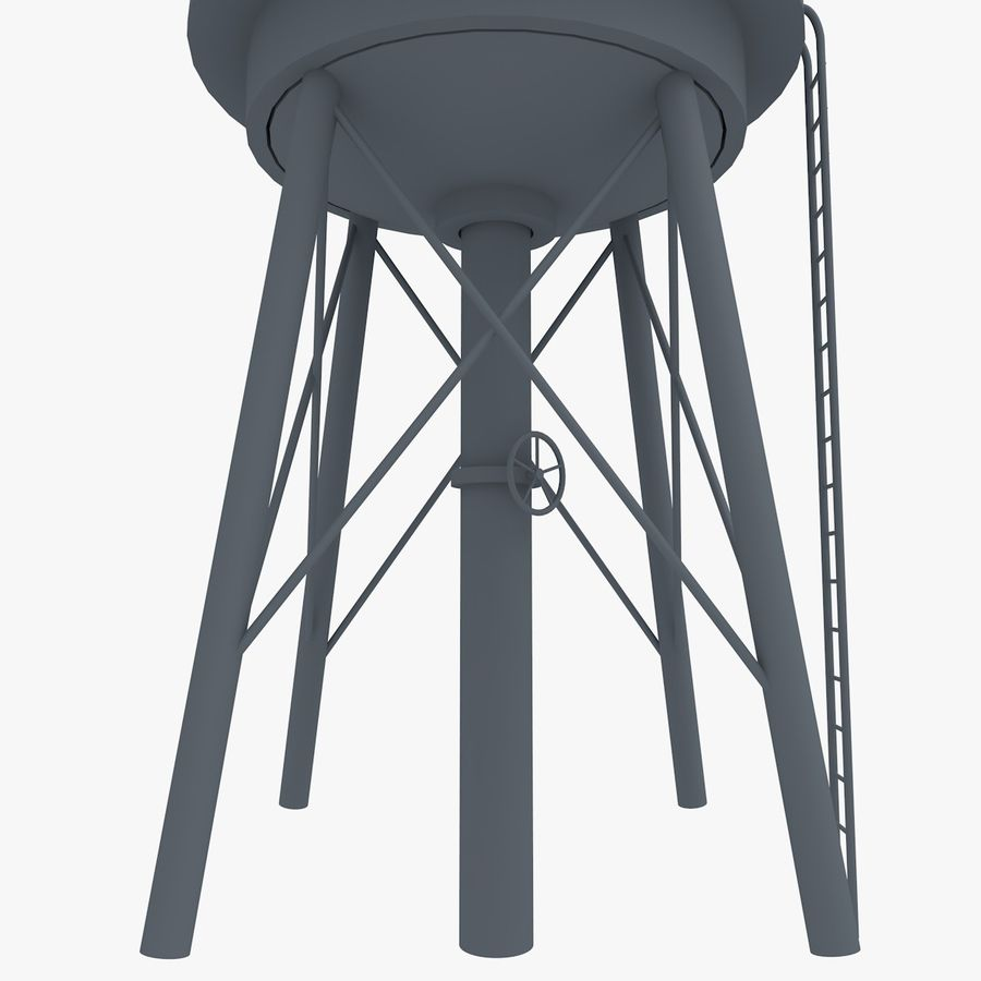 Water Tower (weathered) royalty-free 3d model - Preview no. 18
