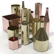 Ferm Living - Brass Vases 3d model