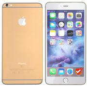 iPhone 6s Plus dorado modelo 3d