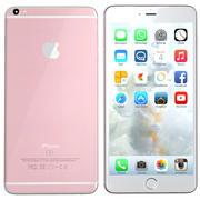 iPhone 6s Plus rosa de oro modelo 3d